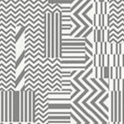 bamako WHITE + SILVER print